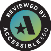 new window Reviewed By Accessible360